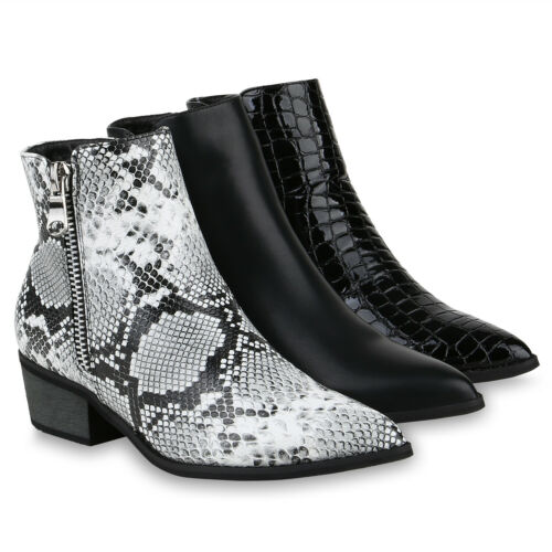 Damen Klassische Stiefeletten Gefütterte Boots Zipper 832267 Schuhe