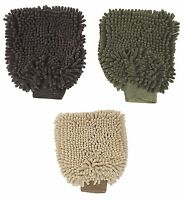 Clean Paws Dog Pet Bathing Drying Mitt Absorbant Microfiber Glove - Choose Color