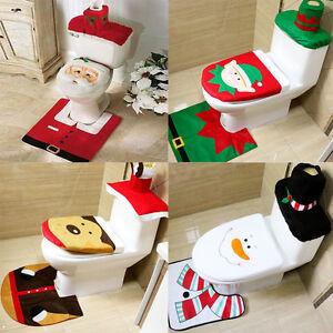 Image Is Loading 3 PCS Set Christmas Xmas Decoration Santa Toilet
