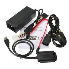 New HD HDD Hard Drive Adapter Converter Cable USB 2.0 to IDE SATA S-ATA 2.5 3.5