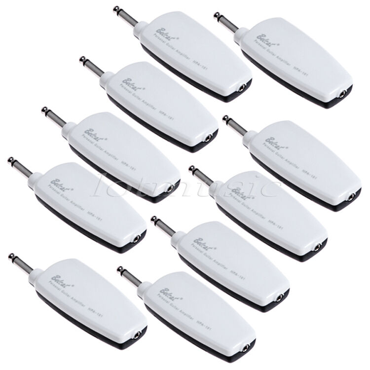 10pcs belcat guitar headphone amplug plug in amplifier w distortion white ebay. Black Bedroom Furniture Sets. Home Design Ideas