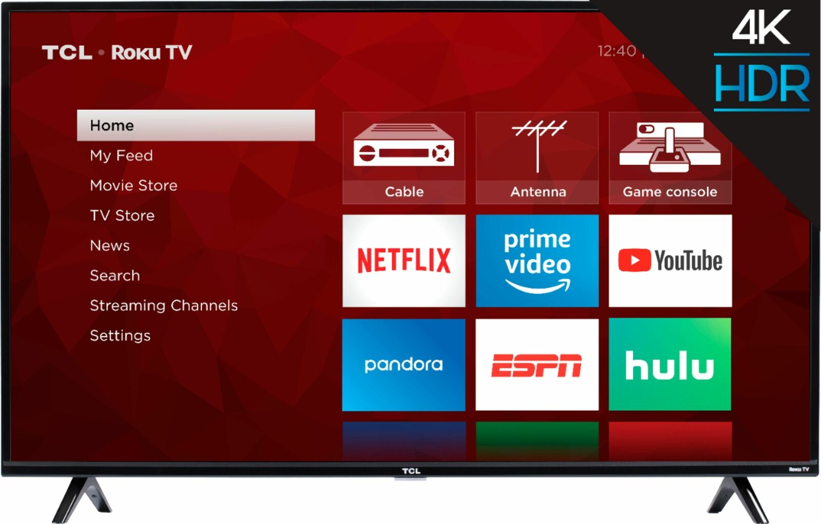"TCL 50S425 50/"" 4-Series Roku 4K UHD LED Smart TV w// Alexa /& Google Assistant"