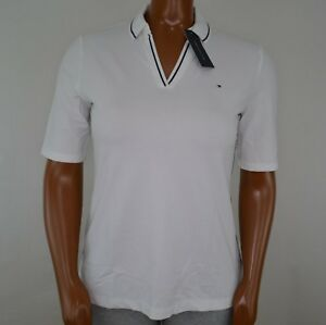 NWT-Women-039-s-Tommy-Hilfiger-Short-Sleeve-Buttonless-Polo-L