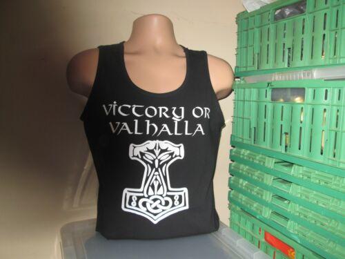 T Shirt Mjolnir Viking Hammer Design Victory or Valhalla Mjolnir