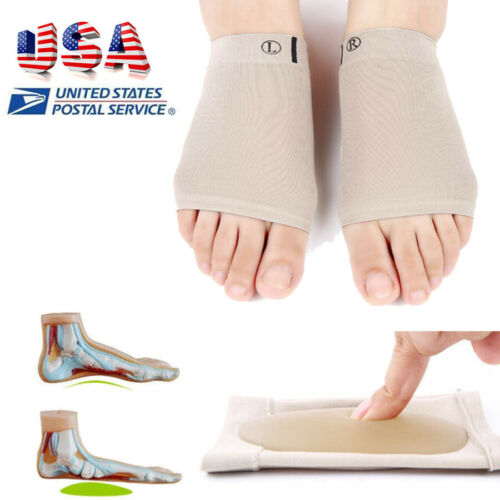 2pc Silicone Gel Fallen Arch Support Cushion Flat Feet Foot Care Pain Relief Pad