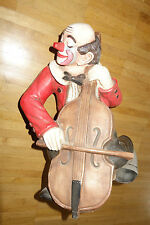 Clown ca 35 cm .Handarbeit. Achatit aus den 80ern. Cello ,Bassgeige,Kontrabass