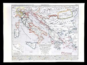 1849 houze map ottoman empire turkey greece italy naples vatican image is loading 1849 houze map ottoman empire turkey greece italy gumiabroncs Choice Image
