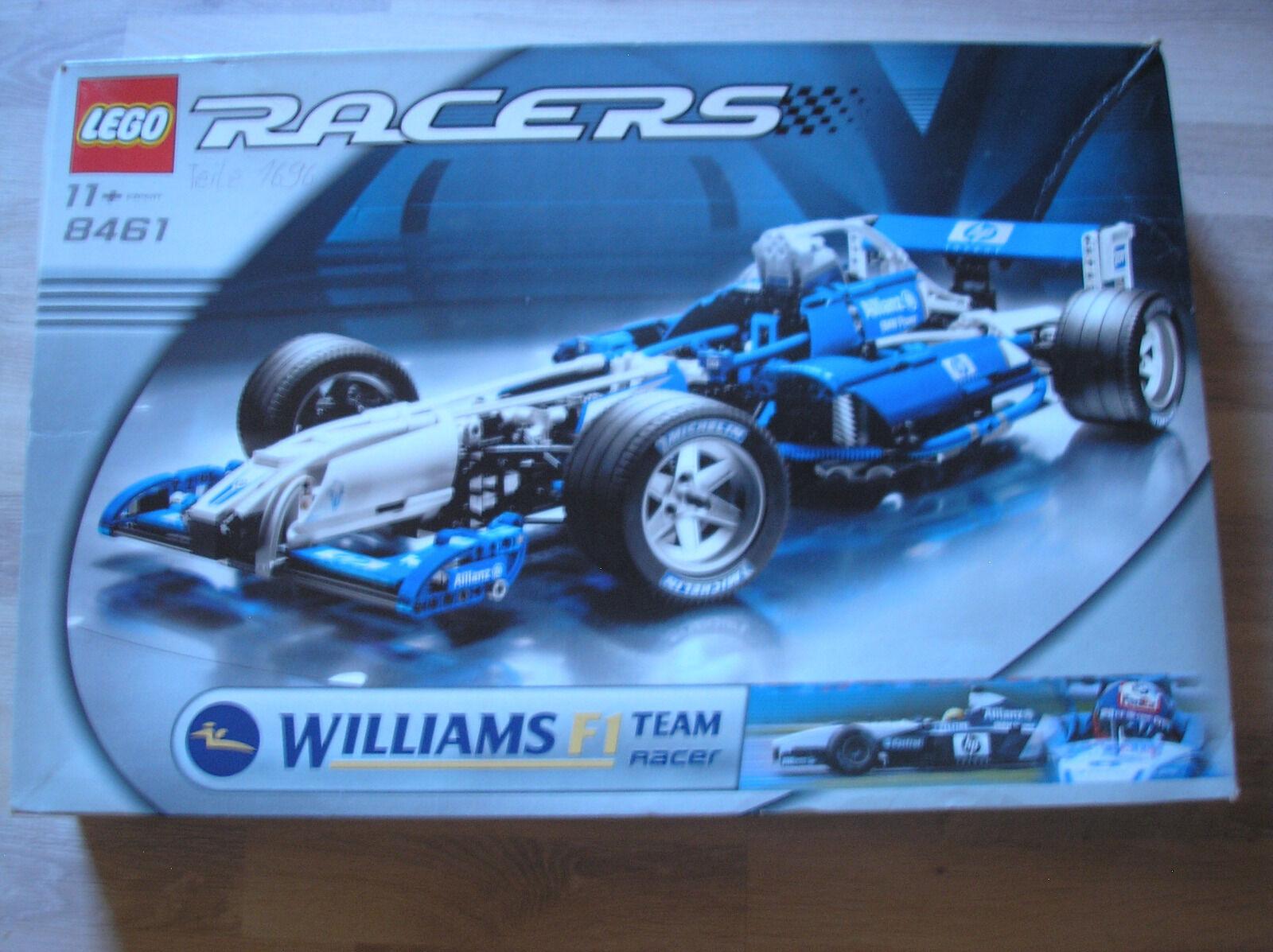 Lego Racers 8461 Williams F1 Team Racer / GUTER ZUSTAND - Rarität von 2002