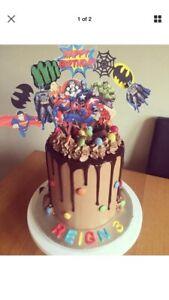 Terrific Superhero Spider Man Hulk Batman Captain America Birthday Cake Funny Birthday Cards Online Necthendildamsfinfo