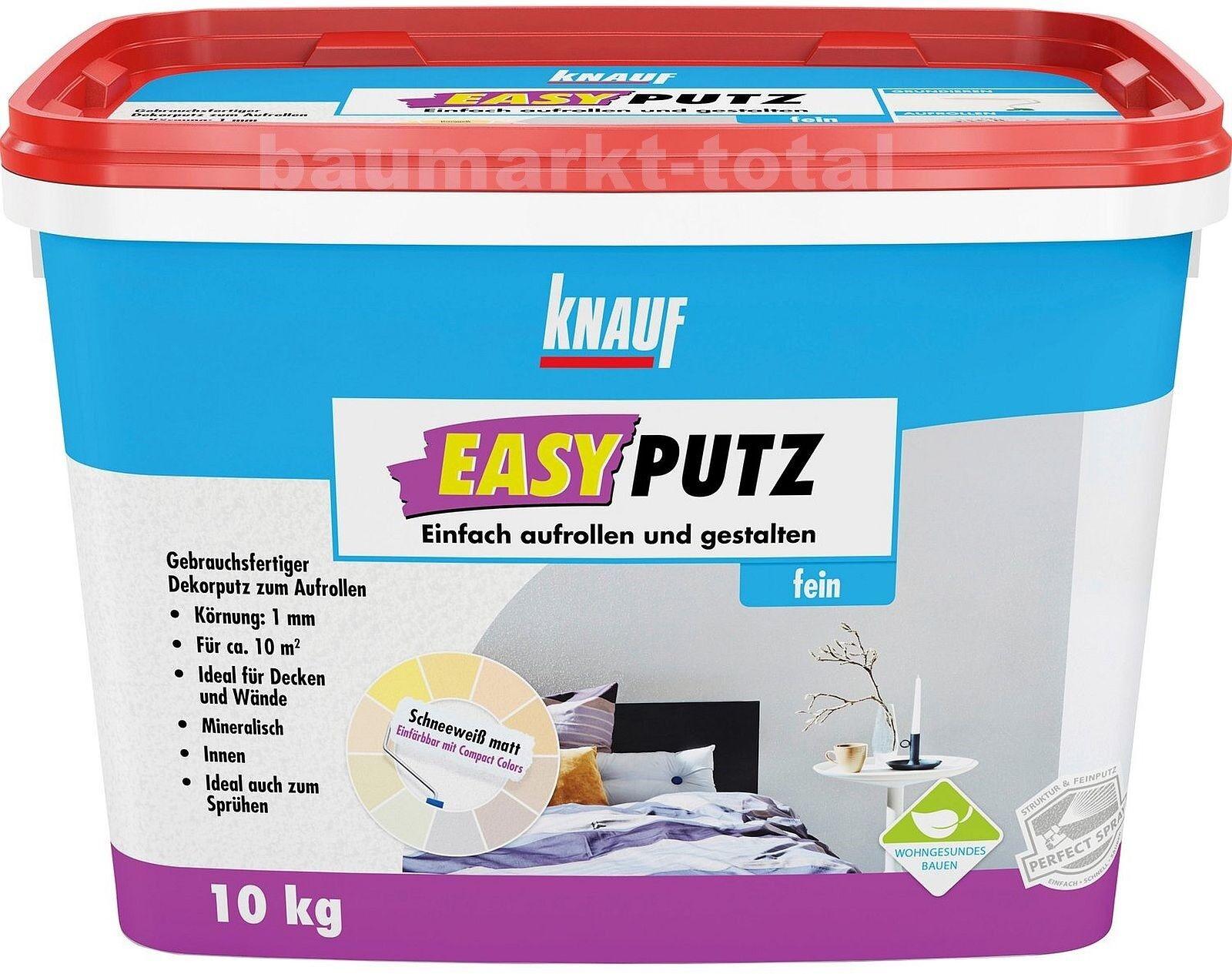 knauf easyputz fein 1 mm 10 kg schneeweiss matt | ebay