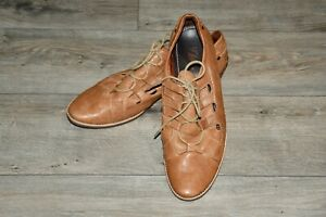 Bata Mens Brown Leather Shoes size 9 42