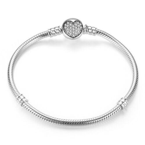 Authentique Argent Sterling 925 Shining Bracelet Jonc s/'adapte européen femmes filles