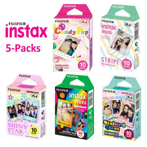 For-Fujifilm-Instax-Mini-8-9-50-Instant-Camera-Fuji-50-Sheets-Color-Photo-Film