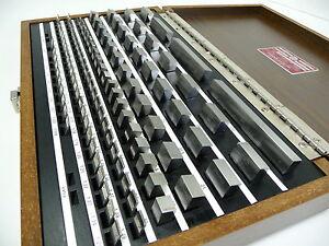New-STARRETT-Gauge-Block-Set-Slip-Gage-RS112MA1-Metric-B89-Gr-0-Endmasssatz