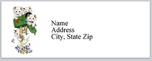 Personalized Address Labels Cats Playing with Mailbox Buy 3 get 1 free bx 330