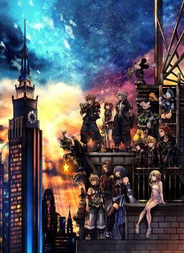 G-602 Kingdom Hearts III Fabric Poster 20x30 24x36
