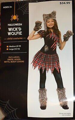 WICKED WOLFIE GIRLS FANCY DRESS COSTUME