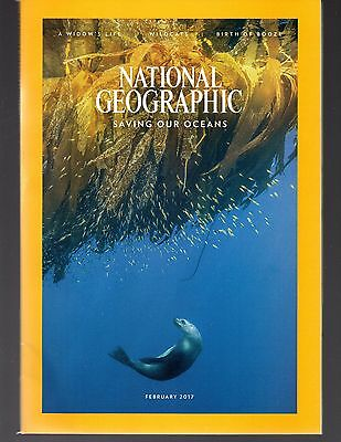 National Geographic February 2017 Birth of Booze Ocean Reserves Widows Wildcats