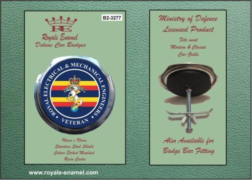 Royale Military Car Grill Badge /& Fittings REME VETERAN B2.3277