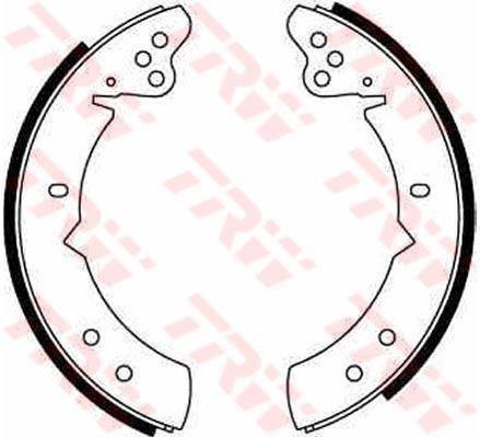 GS6060 TRW Brake Shoe Set Rear Axle