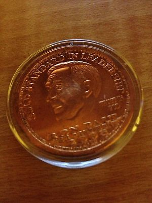 2008 RON PAUL LIBERTY DOLLAR IN AIRTITE CASE COPPER ROUND