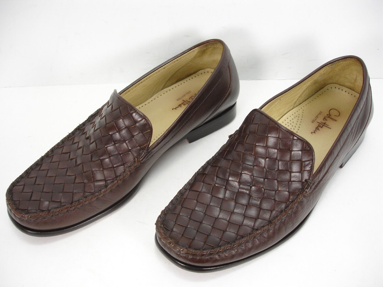 il più alla moda COLE COLE COLE HAAN COLLECTION Marrone WEAVED LEATHER SLIP ON LOAFERS DRESS scarpe uomo 12 M  prezzi eccellenti