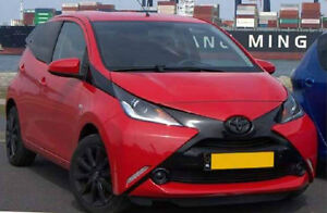 GLOSS BLACK BADGE COVER MANY COLOURS AVAILABLE TOYOTA AYGO 2014