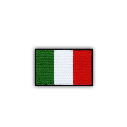 small 3.3  x  2.2 cm Embroidered PATCH//BADGE Flag of Italy