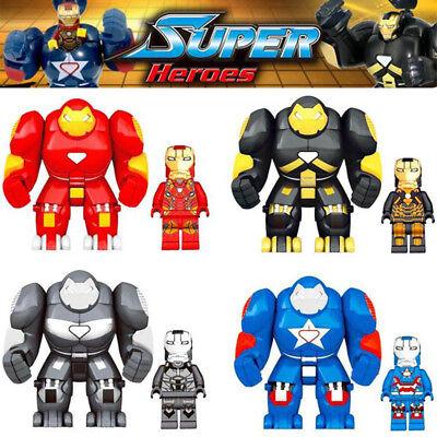 8pcs Marvel Avengers Super Heroes Iron Man Hulkbuster Mini Figure Fit Lego Toys Sconti Prezzo