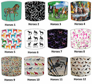 Horses-lampshades-Ideal-To-Match-Paper-Hangings-Wall-Decal-duvets
