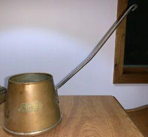 RARE Copper Brass Cider Or Ale Ladle / Dip Pot