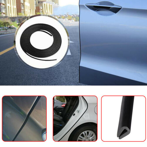 Black Rubber Seal Guard Strip U-Shape Car Door Edge Side Protector Anti Scratch