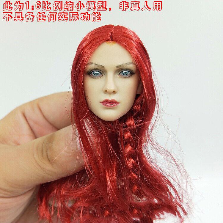 Tbleague 1 6 PL2019-140-B rojo Sonja headsculpt modo Punk de vapor para 12  figura