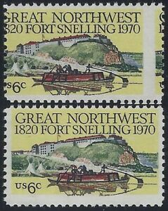"1409 - 6c Scarce Vertical Misperf Error / EFO ""Fort Snelling"" Mint NH"