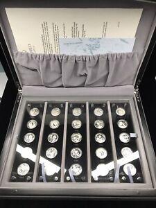 2007 China Panda 25th Anniversary 25x 1/4 oz Silver Panda Coins w Box & COA