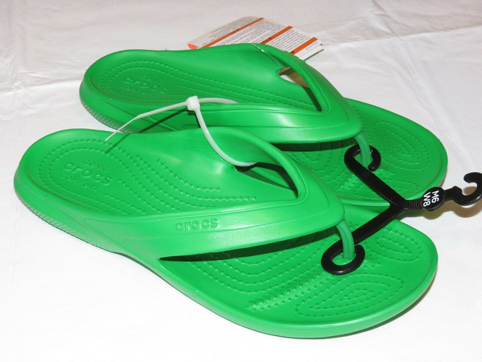 254fa6beb6e3 Buy Crocs Classic Flip Grass Green Relaxed Unisex M 9 W 11 Flip ...