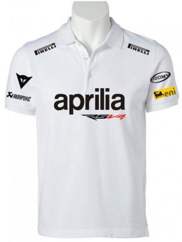 POLO APRILIA RSV4 Factory felpa t-shirt maglietta maglia max biaggi sbk ducati