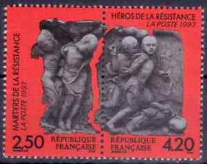 1993-FRANCE-TIMBRE-Y-amp-T-N-2813-et-2814-P2813A-Neuf-SANS-CHARNIERE