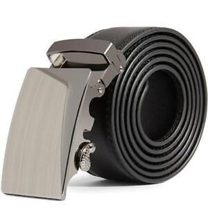 Genuine-Leather-Men-039-s-Automatic-Buckle-Belts-Fashion-Waist-Strap-Belt-Waistband