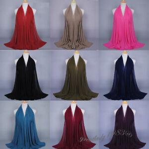 Muslim-Women-Chiffon-Hijab-Long-Scarf-Islamic-Headscarf-Wrap-Shawls-Arab-Turban