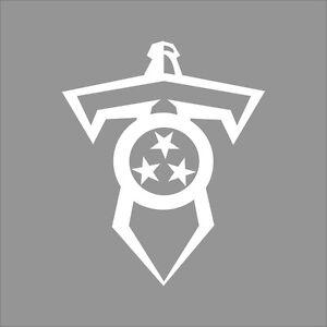 Tennessee Titans 2 Nfl Team Logo 1 Color Vinyl Decal