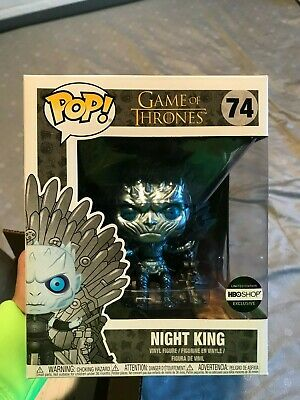 from Game of Thrones Exclusive Metallic Night King on Throne Deluxe Funko Pop