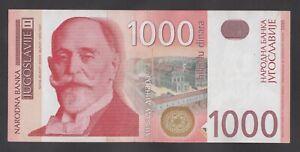 YUGOSLAVIA 1000  DINARA 1992   Prefix AA P 114  Uncirculated Banknotes