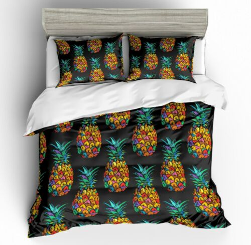 3D Customized Pineapple Quilt Cover Bedding Set Pillowcase Comforter Cover Set