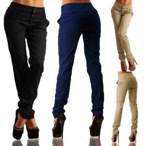 ZANZEA-Femme-Casual-en-vrac-Taille-Haute-Casual-Slim-Long-Pantalons-Crayon-Plus