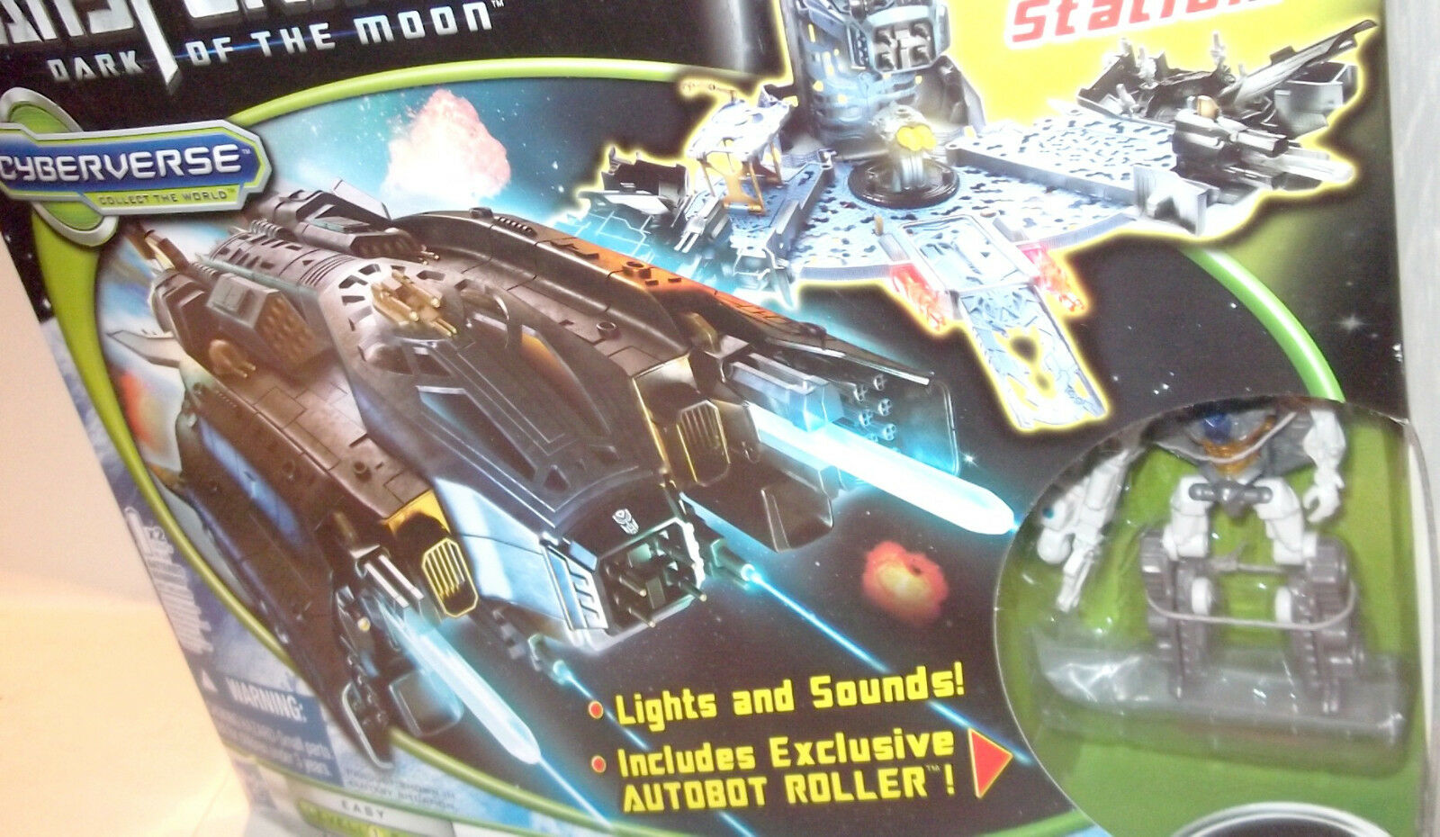 Transformers Dark Of The Moon Cyberverse AUTOBOT ARK Roller 2-1 Lights & Sounds