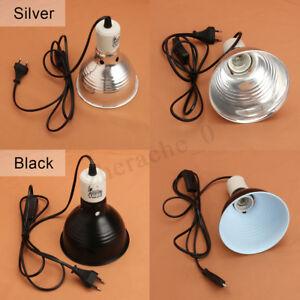 Reptile-100W-Ceramic-Heat-UVA-UVB-Lamp-Light-Dome-Holder-Chicken-Brooder-Basking