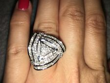 Wrapped in Love Diamond Triangle Floral Ring 1 ct. t.w. in Sterling Silver