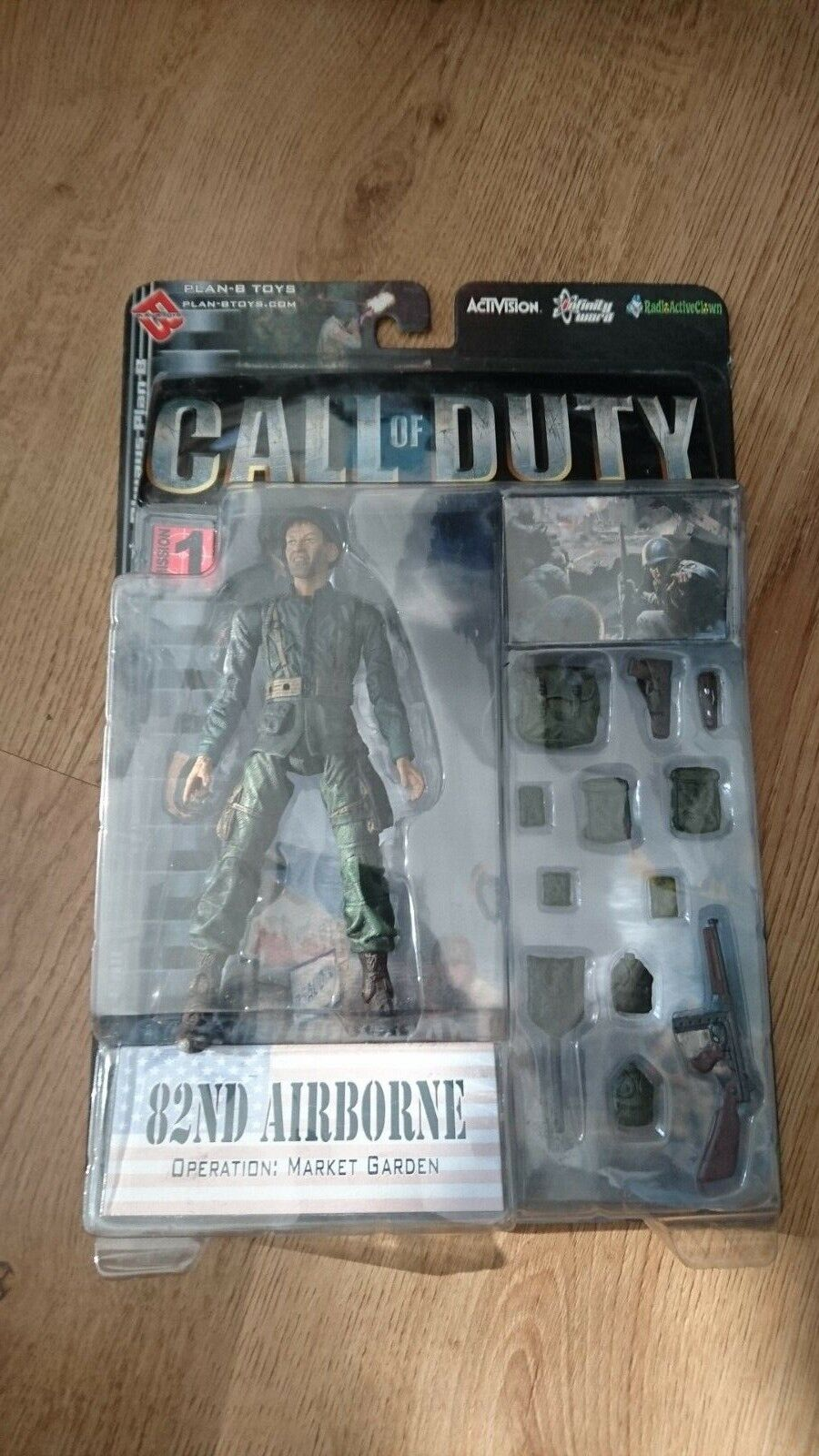 CALL OF DUTY WWII AMERICAN 82nd Airborne ACTION FIGURE PLAN-B TOYS - Brand New