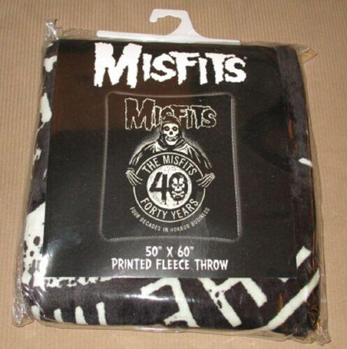 New Misfits 40th Anniversary Gift Fleece Throw Blanket Reaper Rare Punk Fiend